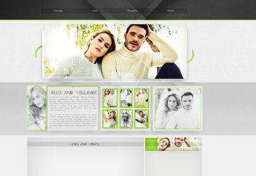 Ordered layout with Lily James by redesignbea
