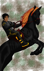 The Black Rider by lovestained