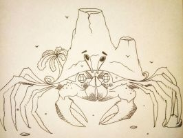 Vacation crab. by Noah-Kirkpatrick