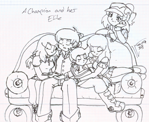 Champion and her Elite by LouLilie