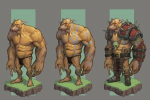 Orc warrior concept by awesomeplex