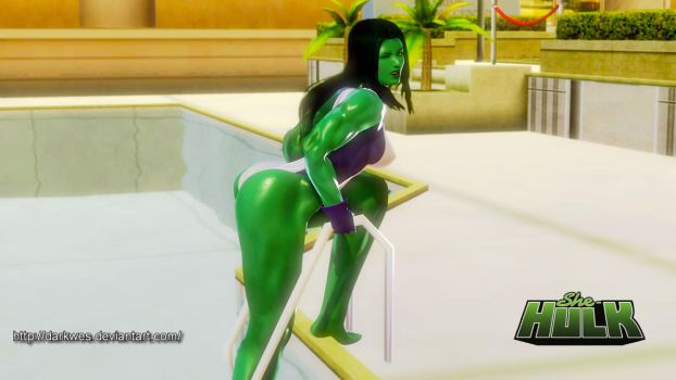 She-Hulk - Hot Day by darkwes
