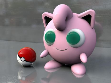 Jigglypuff 3D by dye-the-eye