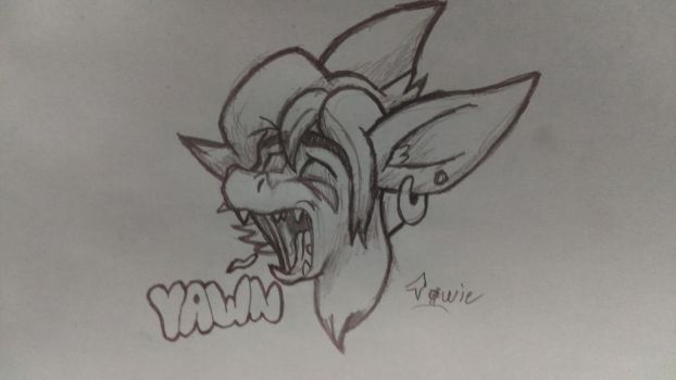 Y A W N (Emotion Practice #2) by TowmacowWaffles
