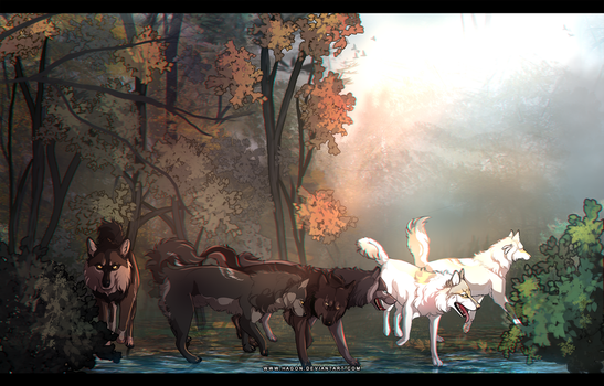 YCH forest hunt by Hagon