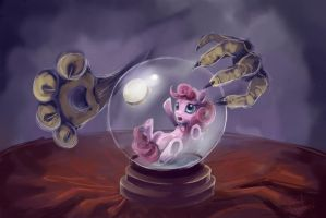 Trapped inside a crystal ball by FoxTailPegasus