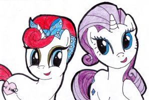 GIFT: Sugarstitch and Rarity by RaspberryFanta