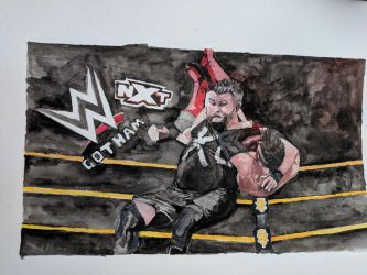 Kevin Owens vs Finn Balor by N4trs-pR1d3
