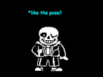Sans with Papyrus's pose by JustinCalhoun