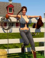 The Cow Girl by Redrobot3D