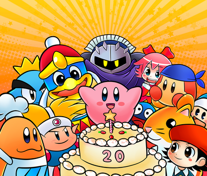 Kirby's 20th Anniversary by CheloStracks