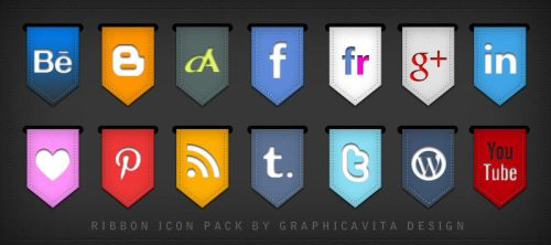 Ribbon Icon Set by graphicavita