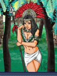 Aztec Princess Collaboration by hellbat