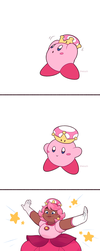 Super Crown Kirby by Sangled