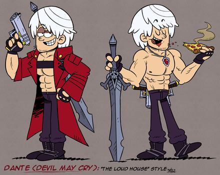 [MM] ''LOUD HOUSE'' Style: Dante (Devil May Cry) by Master-Rainbow