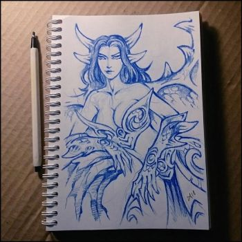 Sketchbook - Winged dragon girl by Candra
