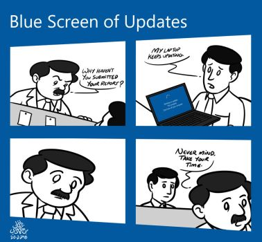 Blue Screen of Updates by poecillia-gracilis19
