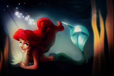 Coloring Page Challenge -- Ariel by D3moira