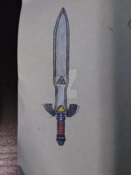 Master Sword (Redesigned Link to the Past Style) by AlexandNintendo2