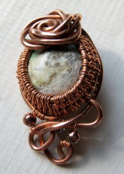 Copper Brooch Pin by a-kid-at-heart