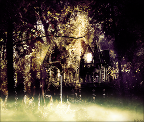 haunted house in the forest by silvers-azz