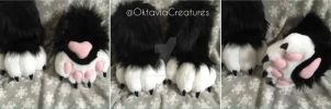 Black n' white sockpaws. by WithCandyDancing