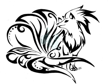 Line Art Rooster : Tribal things favourites by pokelover007 on deviantart