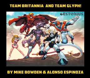 Team Britannia+Team Glyph Team-up!~Bowden+Espinoza by Estonius