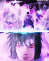Naruto 639 - obito VS sasuke - Coloring by DEOHVI