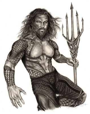 Jason Momoa - Aquaman (DC Comics) by ShonnaWhite