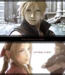 Cloud, Aerith and Zack by AuraIan