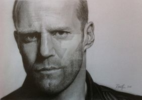 Jason Statham - graphite pencils drawing by hand2draw