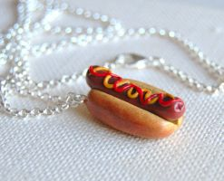 Hot Dog Necklace by Madizzo