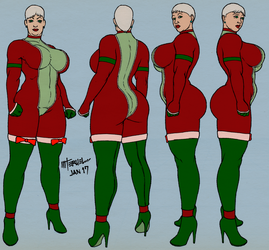 Mrs. Claus outfit, third iteration by MiltonTeruel