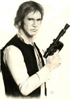 Harrison Ford as Han Solo by aBal0rio