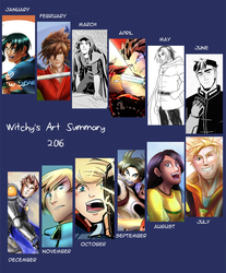 Witchy's Art Summary 2016 by witch-girl-pilar