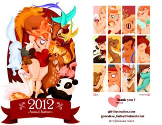 My 2012 calendar is DONE by GenevieveFT