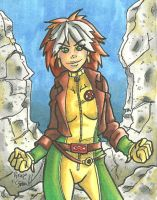 Rogue Sketch Card by ibroussardart