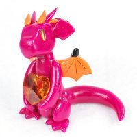 Pink and Orange Heart Dragon by HowManyDragons