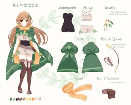 Reference Sheet - Iris by Reminel