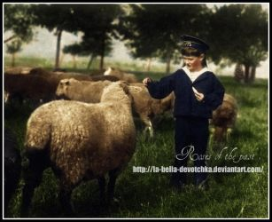 Alexei and sheeps by La-Bella-Devotchka