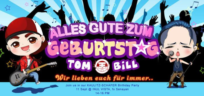 Kaulitz Schaefer B'Day Party by ImperialBlue
