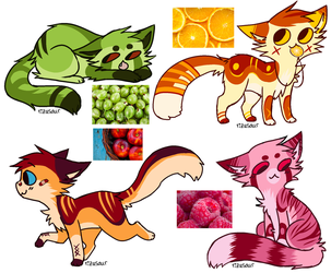 Fruit cats: adopt (CLOSED). by Cute-Adopt01