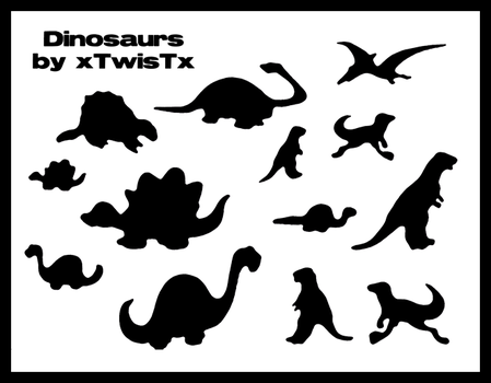 Dinosaur Brushes for Photoshop by xTwisTx