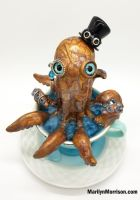 Polymer Clay Octopus by MarilynMorrison