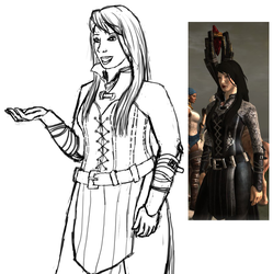 Verity Outfit Sketch by Plantress