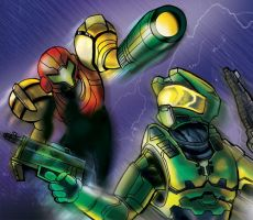 Halo vs Metroid by ninjha