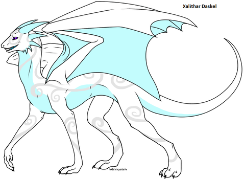Normal Ethereal Dragon form by Xalithar-Daskel