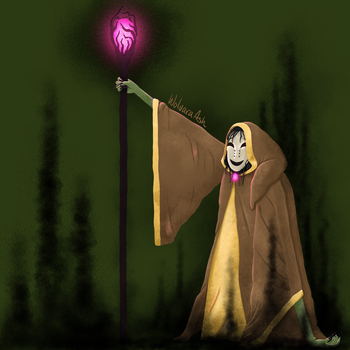 Masked Mage by WolvaraAsh