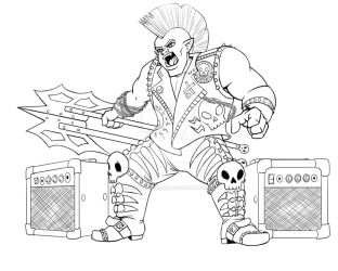Punk Rock Orc Bard by BrittanyMichel
